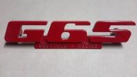 Emblem für den G65 Kühlergrill aus Aluminium mit Werbung