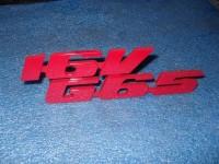 Emblem für den 16VG65 Kühlergrill aus Aluminium