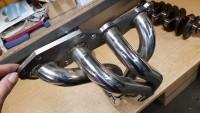 Fächerkrümmer Edelstahl Motorsport  für Polo G40 mit originalem Katalysatorgehäuse