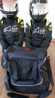 Helmtasche Helmet Bag mit Röttele-Racing Werbung