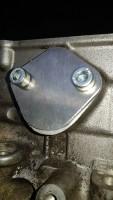 Aluminium Abdeckplatte für die mechanische Kraftstoffpumpe Polo 1 mit Schlepphebelkopf bis Baujahr ´