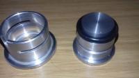CO Poti Flansch Verschlussstopfen aus Aluminium