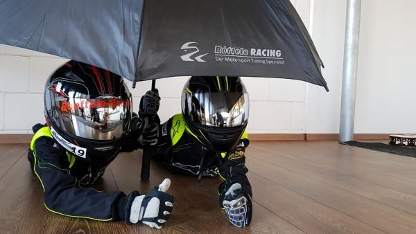 Regenschirm Umbrella mit Röttele-Racing Werbung