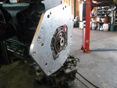 Getriebeflanschplatte Polo G40 Motor an 02A Getriebe G60