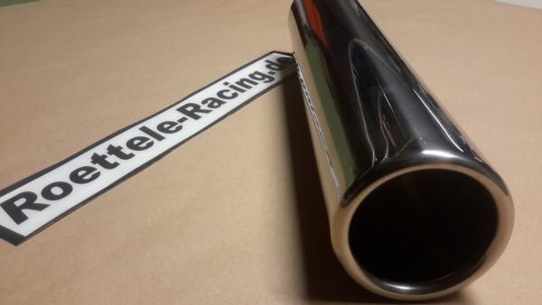 Auspuffendrohr mit 70 mm Durchmesser gebördelt